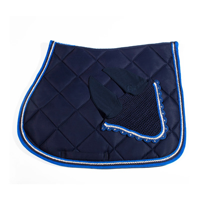 Wagner SADDLEPAD SET - Tapis de dressage + bonnet blue/royal blue
