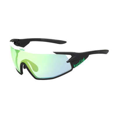 BOLLE - B-ROCK PRO - Lunettes de soleil photochromique matte white/phantom clear green