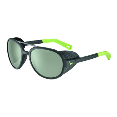 CEBE - SUMMIT - Lunettes de soleil photochromique matt black/lime/zone vario green silver