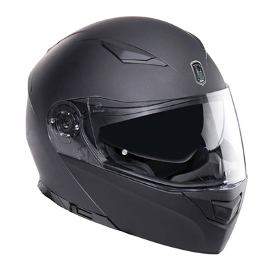 EXKLUSIV - DOWNTOWN - Flip-Up Helmet - matt black