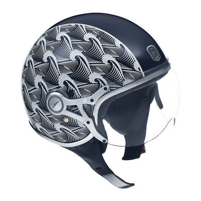 EXKLUSIV - FREEWAY WAVES - Jet Helmet - blue