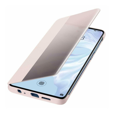 HUAWEI - P30 VIEW FLIPCOVER - Coque protection rose