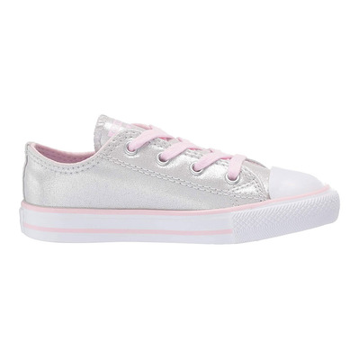 CONVERSE - CHUCK TAYLOR ALL STAR OX - Shoes - Kid's - mouse/pink foam/white grade B