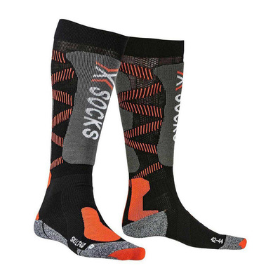 X-BIONIC - SKI LT - Socks - black/x-orange