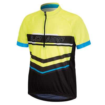 BICYCLE LINE - AERO 2.0 K - Camiseta junior black/yellow fluo