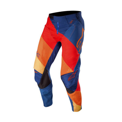 alpinestars - TECHSTAR VENOM - Pants - Men's - dark blue/red tangerine