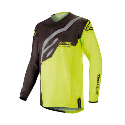 alpinestars - TECHSTAR FACTORY - Jersey - Men's - black/yellow fluo