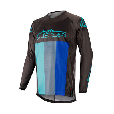 alpinestars - TECHSTAR VENOM - Jersey - Men's - black/turquoise blue