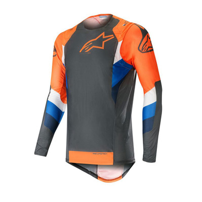alpinestars - SUPERTECH - Jersey - Men's - anthracite/orange fluo