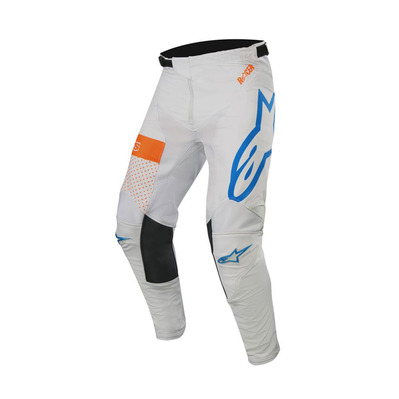 alpinestars - RACER TECH ATOMIC - Pants - Men's - grey/mid blue/orange