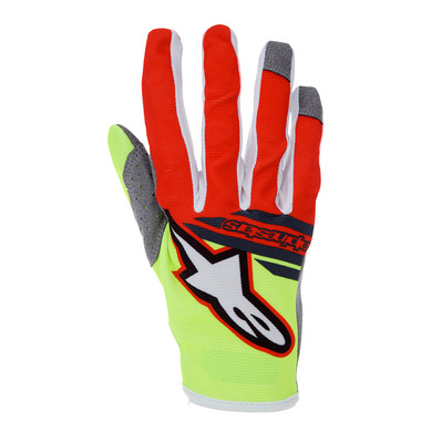alpinestars - RADAR FLIGHT - Gloves - Junior - fluo/red/an