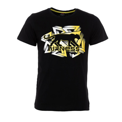 AIRNESS - COMPRESSION - T-Shirt - Men's - black/yellow