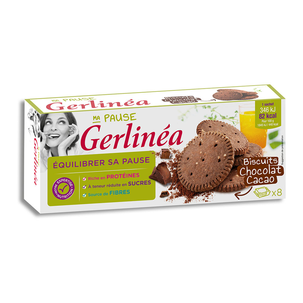 GERLINEA Gerlinéa EN-CAS - Boîtes x6 chocolat/cacao ...