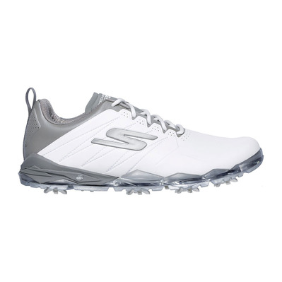 SKECHERS - GO GOLF FOCUS 2 - Shoes - Men's - white synthetic/grey trim