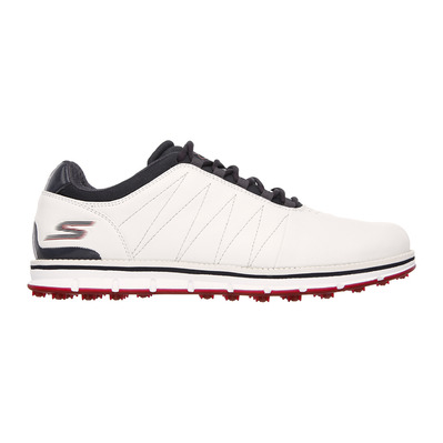 SKECHERS - GO GOLF TOUR ELITE - Shoes - Men's - white/navy leather/red trim