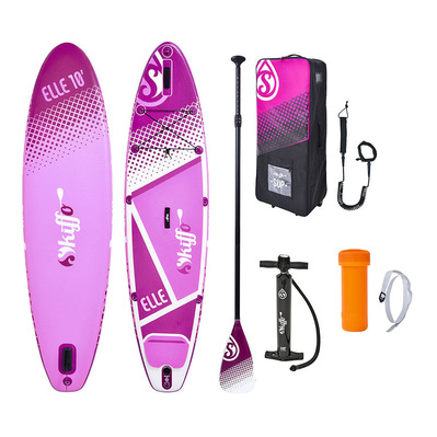SKIFFO - ELLE 10' - Inflatable SUP Board - pink/white + Accessories