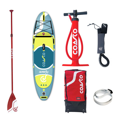 "COASTO - CALYPSO 9'9"" - Inflatable SUP Board - blue/yellow + Accessories"