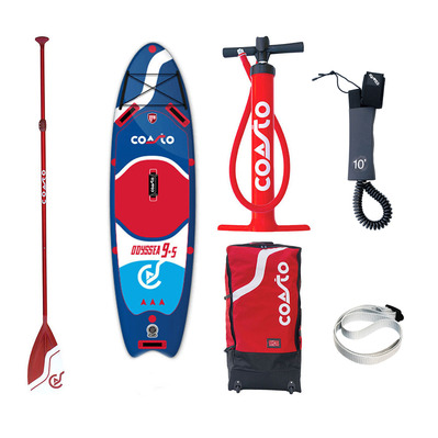 "COASTO - ODYSSEA 9'5"" - Inflatable SUP Board - blue/red + Accessories"