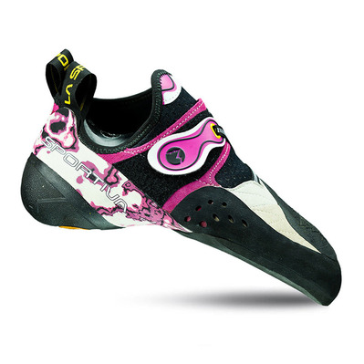 LA SPORTIVA - SOLUTION - Climbing Shoes - Junior - white/pink
