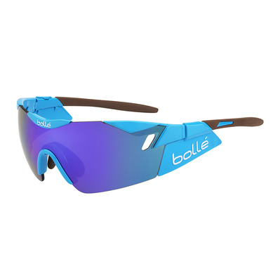 BOLLE - 6THSENSE - Sunglasses - shiny blue/brown/blue violet