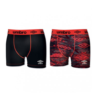 UMBRO - SUBA - Boxers x2 Men's - black/red