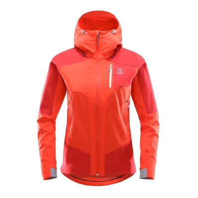 HAGLÖFS - Haglöfs SKARN HYBRID Q - Jacket - Women's - pop red/rich red