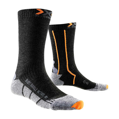XSOCKS - X Socks DOUBLE MID - Socks - anthracite/orange