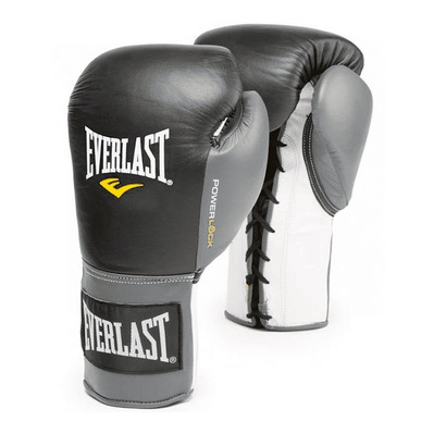 EVERLAST - POWERLOCK FIGHT LACE - Boxing gloves - black/grey