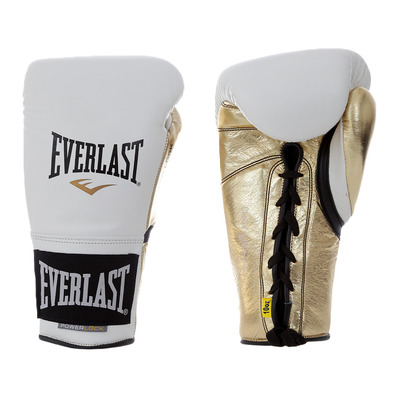 EVERLAST - POWERLOCK PRO 631 - Boxing gloves - white/gold