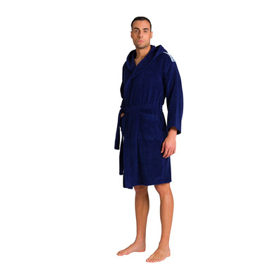 ARENA - CORE SOFT ROBE Unisexe NAVY WHITE
