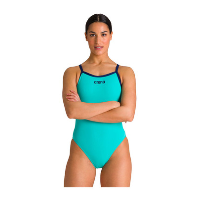 ARENA - SOLID LIGHT TECH HIGH - Bañador mujer mint/navy