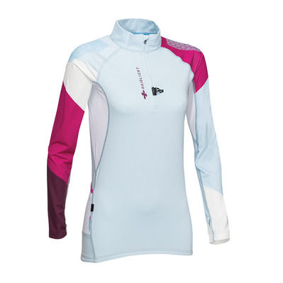 RAIDLIGHT - PERFORMER LS TOP W Femme LIGHT BLUE WHITE