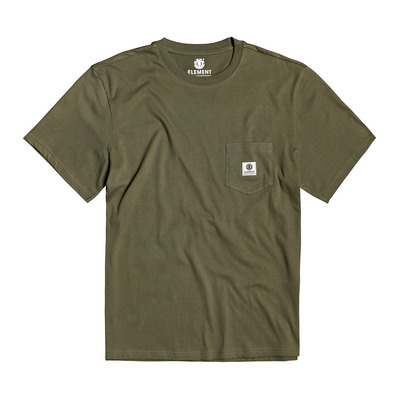 ELEMENT - BASIC POCKET LABEL - Tee-shirt Homme army