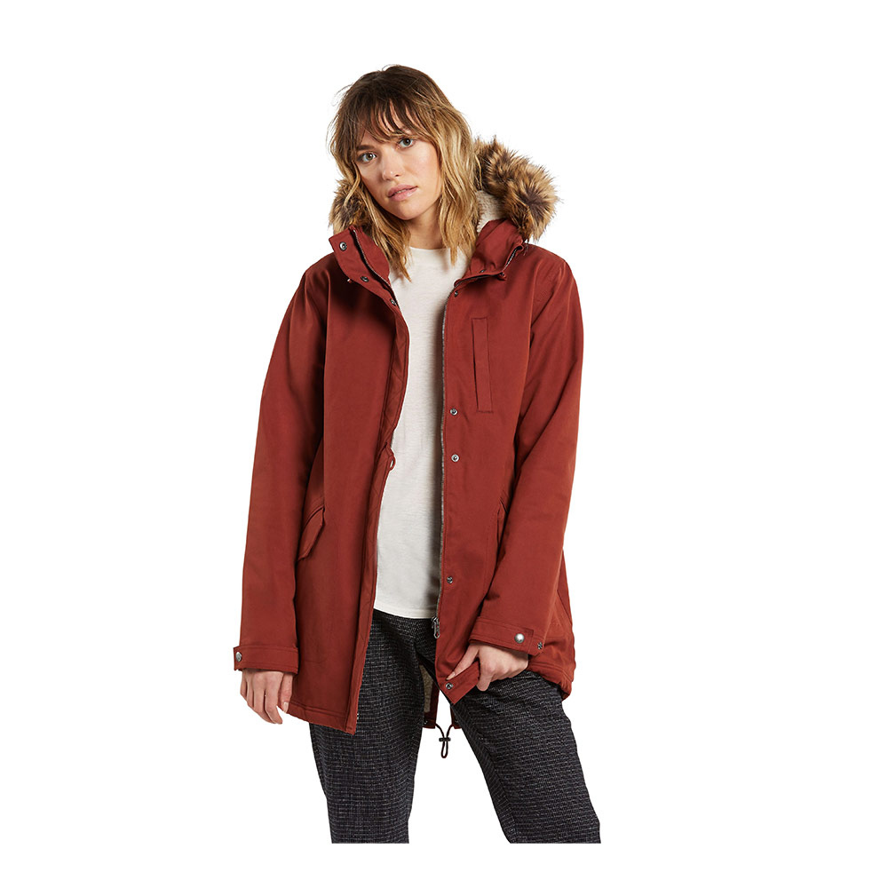 VOLCOM - LESS IS MORE 5K PARKA Femme BRICK