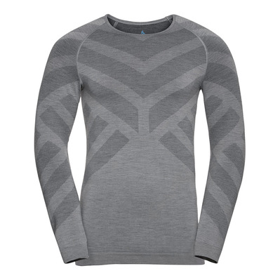 ODLO - BL TOP Crew neck l/s NATURAL + KINSHIP W Homme grey melange