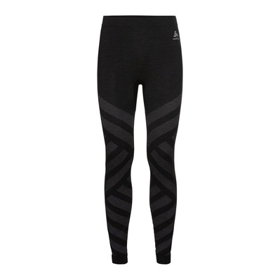 ODLO - BL Bottom long NATURAL + KINSHIP WARM Homme black melange