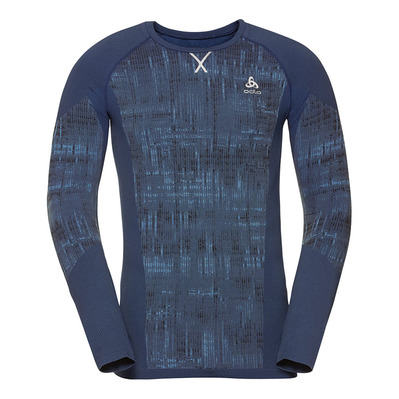 ODLO - BL TOP Crew neck l/s BLACKCOMB Homme estate blue