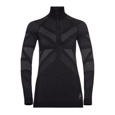 ODLO - NATURAL - Felpa Donna black melange