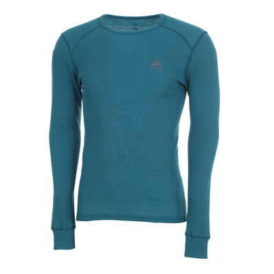ODLO - SUW TOP Crew neck l/s ACTIVE WARM 2 Pack Homme blue coral - black