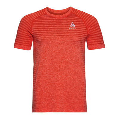 ODLO - T-shirt s/s crew neck SEAMLESS ELEMENT Homme orange.com melange