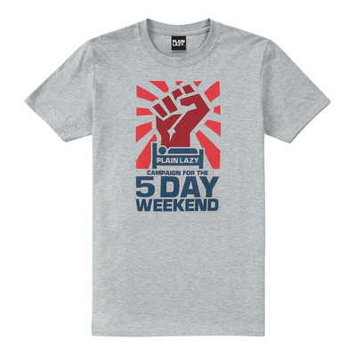 PLAIN LAZY - 5 DAY WEEKEND - Tee-shirt Homme sport grey