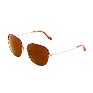 VUARNET - VL1628 - Sunglasses - pink/gold/pure brown purple flashed