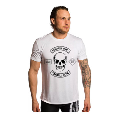 NORTHERN SPIRIT - BARBELL CLUB - Camiseta hombre white