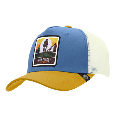 THE INDIAN FACE - BORN TO RIDE - Gorra blue/yellow/white