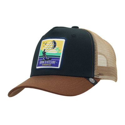 THE INDIAN FACE - BORN TO KITESURF - Gorra blue/brown