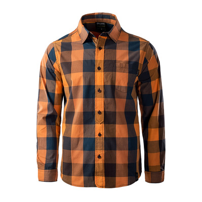 ELBRUS - GAFAR - Shirt - Men's - exuberance/apricot buff/moonlit ocean/seal brown