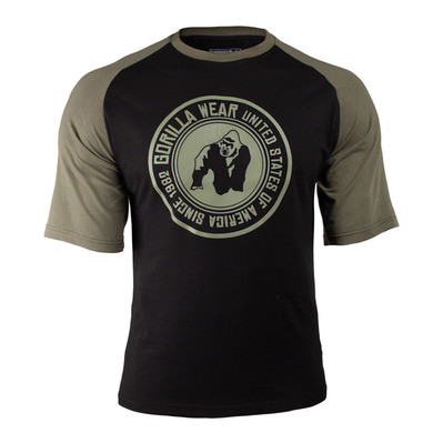 GORILLA WEAR - TEXAS - Camiseta hombre black/army green
