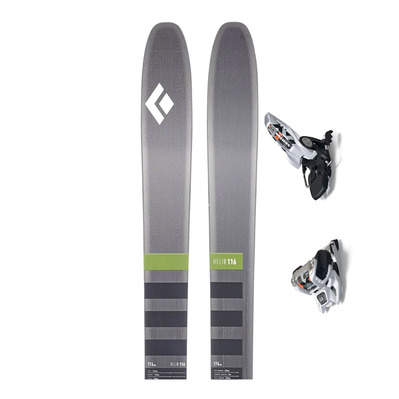 BLACK DIAMOND - HELIO 116 SKIS + GRIFFON 13 ID - Touring Skis + Bindings - white