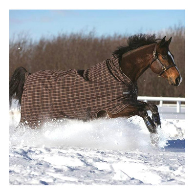 HORSEWARE - RHINO WUG TURNOUT - Manta impermeable chocolat/crea