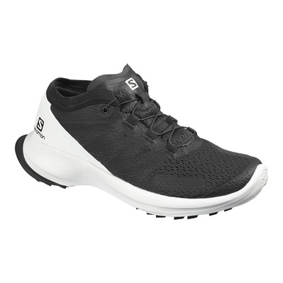 SALOMON - SENSE FLOW - Chaussures trail Femme black/white/black